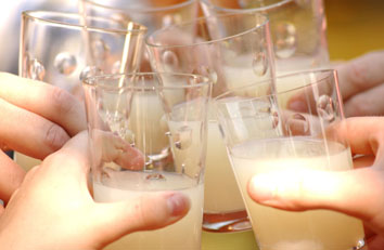 gamle drikkeglas glas jagtscene